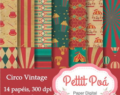 Papel digital circo vintage
