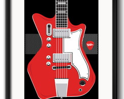Quadro Guitarra White Stripes Paspatur