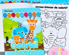 Revista de colorir Safari Baby
