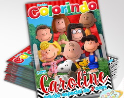Revista de colorir Snoopy