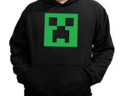 Blusa De Moleton Creeper - Mine Craft -
