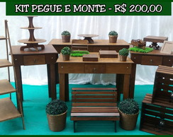 Kit pegue e monte rústico