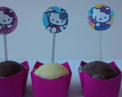 120 Mini Topper P/ Docinhos Hello Kitty