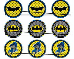 50 Mini Topper p/ Docinhos Batman