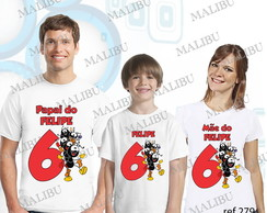 Kit Camiseta Aniversario Smilinguido c/3