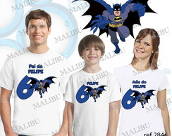 Kit Camiseta Aniversario Batman com 3