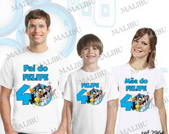 Kit 3 Camiseta Aniversario Looney Tunes