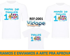 kit camiseta personalizada disney