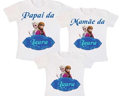 Kit 3 Camiseta Frozen Aniversario