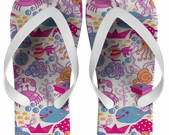 Chinelo Infantil Fundo do Mar