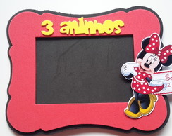 Porta retrato minnie vermelha