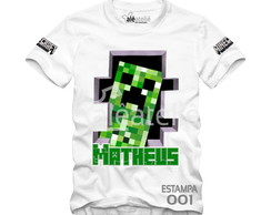 Camiseta Minecraft Personalizada Creeper