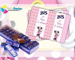 Rótulo para chocolate Minnie Rosa