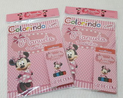 Kit Colorir Minnie Rosa - Embalado