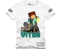 Camisa Minecraft Personalizada Authentic