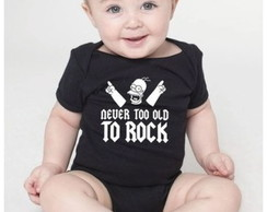 Body de bebê Never too old to rock