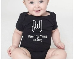 Body de bebê Never too young to rock