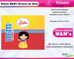 Rótulo M&M Branca de Neve Cute