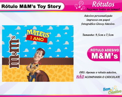 Rótulo M&M Toy Story Xerife Woody