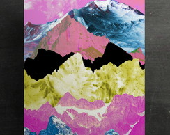 "Poster ""Color Mountain"" A4 (sem moldura)"