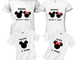 kit 4 camisetas aniversario mickey