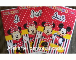 Revistinha para colorir Minnie e Mickey