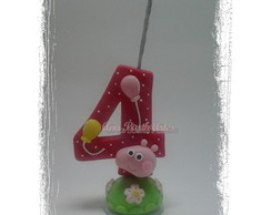Vela Decorada Peppa Vermelha!
