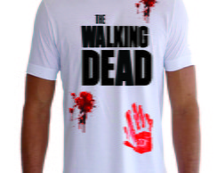Camisa Camiseta The Walking Dead Sangue