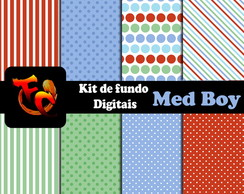 Kit Fundos digitais - Med Boy