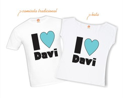 Kit Camiseta I Love