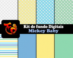 Kit Fundos digitais - Mickey Baby