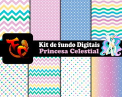 Kit Fundos digitais - Princesa Celestial