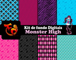 Kit Fundos digitais - Monster High