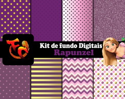 Kit Fundos digitais - Rapunzel