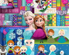 Kit Digital Frozen - 4 Kits diferentes