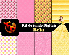 Kit Fundos digitais - Bela 2
