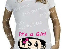 Camiseta Gestante bebe it's a girl