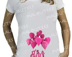 Camiseta Bata Gestante It's a girl