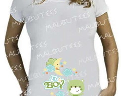 Camiseta Bata Gestante bebe It's a Boy