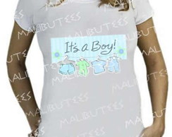 Camiseta Gestante bebe It's a Boy menino