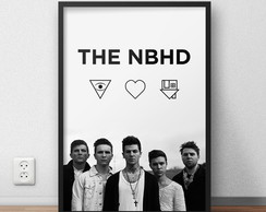 "Quadro Decorativo ""The Neighbourhood"" com moldura e vidro"