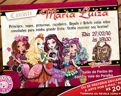 Convite Ever After High 5 (Digital)
