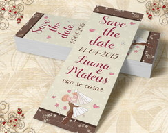 Marcador de Livro Save The Date - 00012