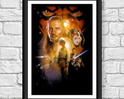 Poster Moldura - Star Wars Episodio 1
