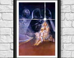 Poster Moldura - Star Wars Episodio 4