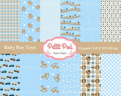 Papel digital baby boy toys