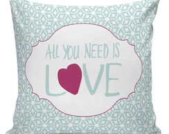 Almofada All You Need Is Love