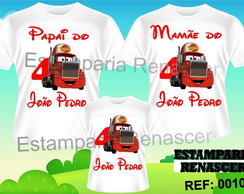 Kit Camiseta Aniversario Carros C/3