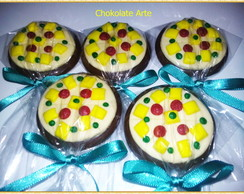 Pirulito de Chocolate Pizza
