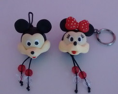 Chaveiro de biscuit Minnie/Mickey